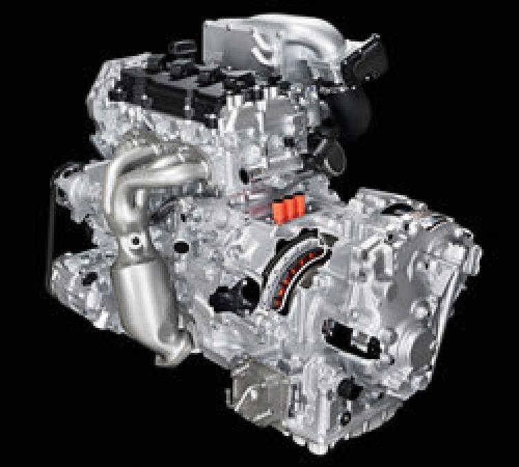Sistema híbrido de Nissan, gasolina 2.5 más motor eléctrico