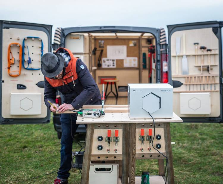 Nissan Unveils Nv300 Concept Van, A Mobile Workshop For A Creati
