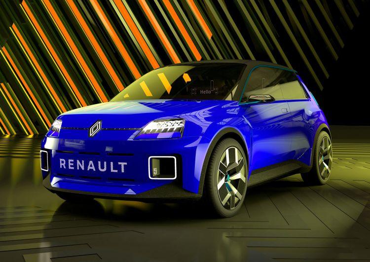 Nuevo Renault 5 Photoshop Azul Frontal