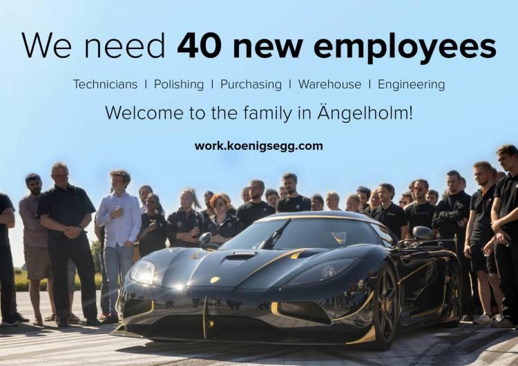 oferta de empleo Koenigsegg