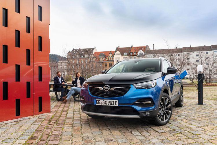 Opel Grandland X Hybrid4 2020 Azul 19