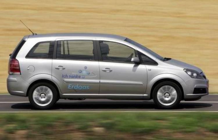 Opel Zafira ecoM, propulsión mediante gas natural