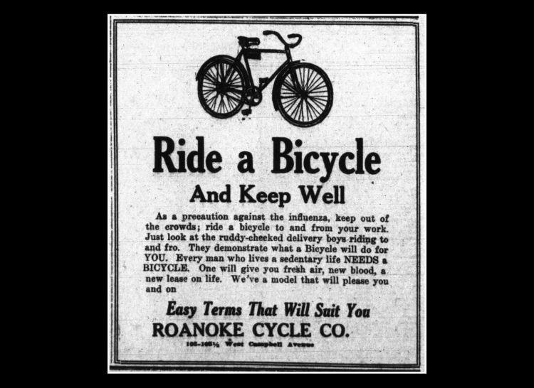 Patinete Electrico Coronavirus Cartel Bicicleta 1918