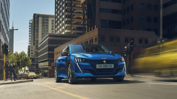 Peugeot E 208 2019 Azul Exterior 03