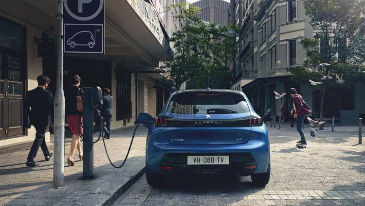 Peugeot E 208 2019 Azul Exterior 18