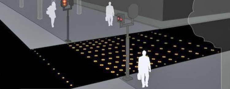 Pasos de cebra con suelo iluminado por LEDs de Philips