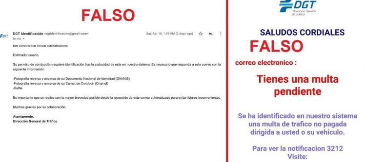 Phishing Falsa Multa Dgt