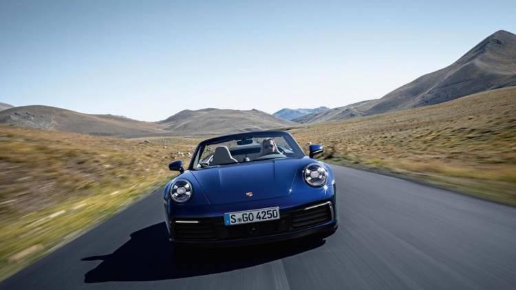 Porsche 911 Cabrio Cabriolet Frontal Movimiento 1