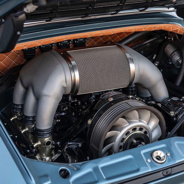 Porsche 911 Singer Azul Naranja Dm 10