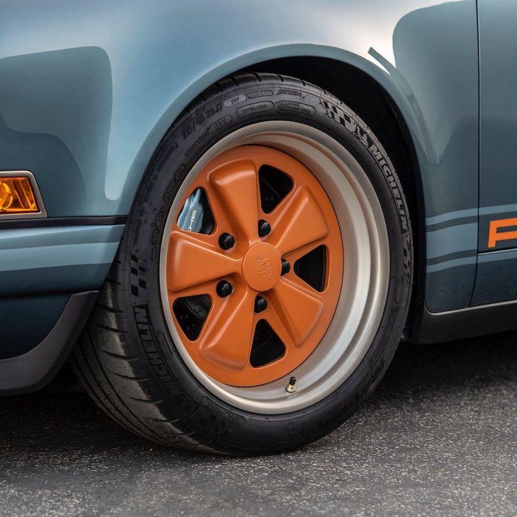 Porsche 911 Singer Azul Naranja Dm 11