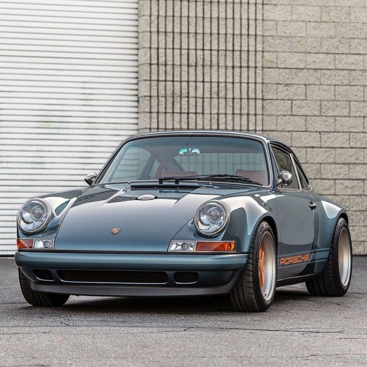 Porsche 911 Singer Azul Naranja Dm 1