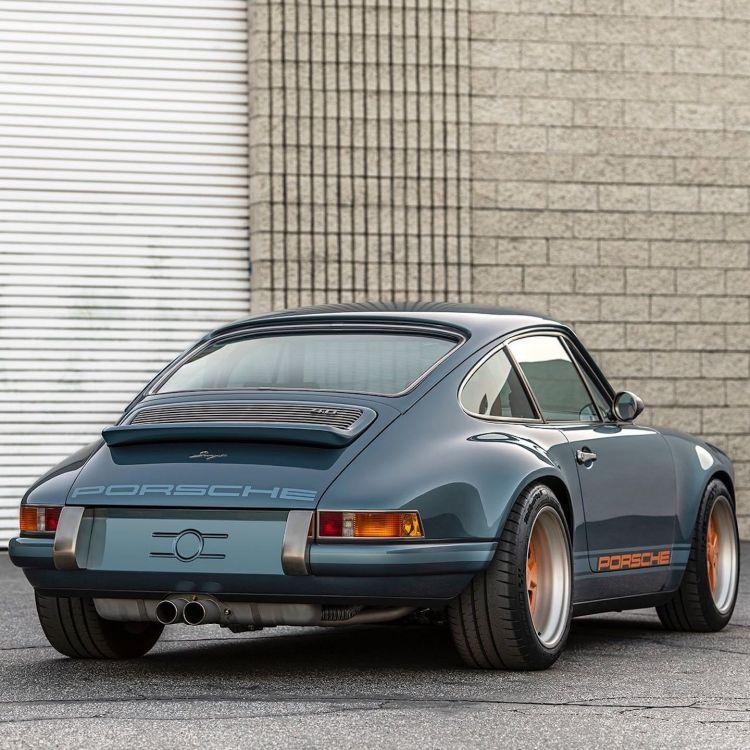 Porsche 911 Singer Azul Naranja Dm 2