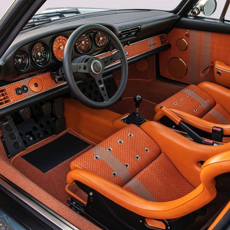 Porsche 911 Singer Azul Naranja Dm 4