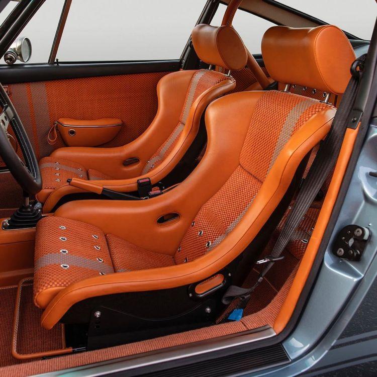 Porsche 911 Singer Azul Naranja Dm 6