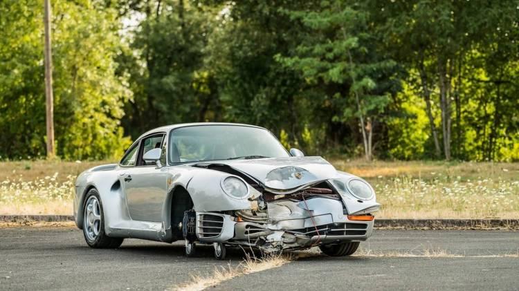 Porsche 959 Accidente Subasta 0818 001