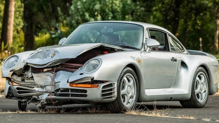 Porsche 959 Accidente Subasta 0818 017