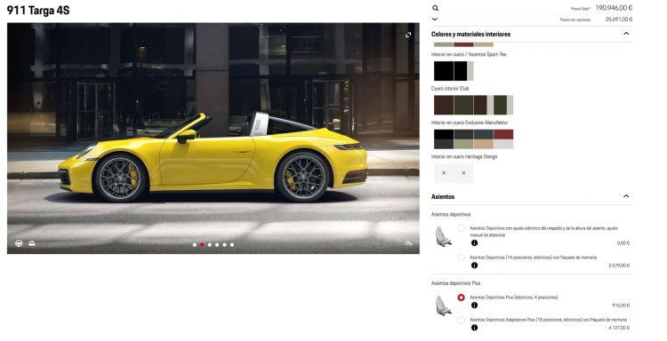Portada Porsche 911 Targa Configurador 1