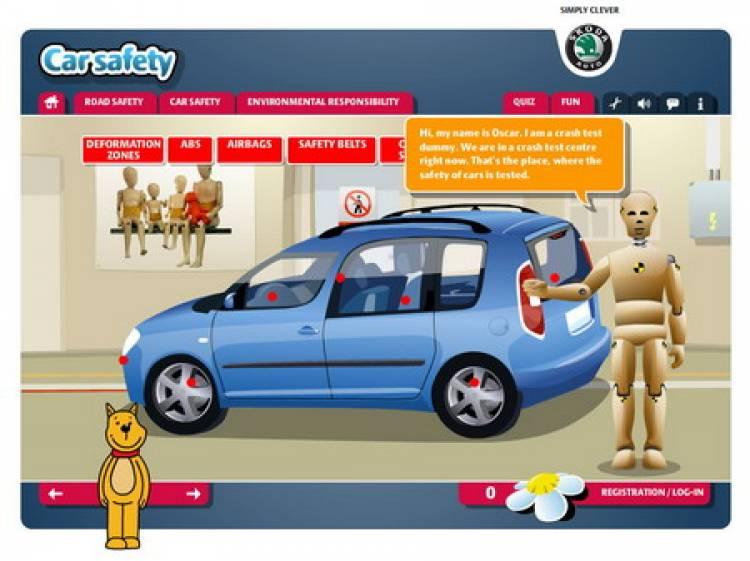 Portal de seguridad vial infantil Skoda - Diariomotor