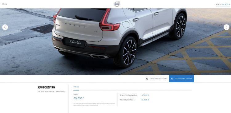 Precio Final Configurador Volvo Xc40