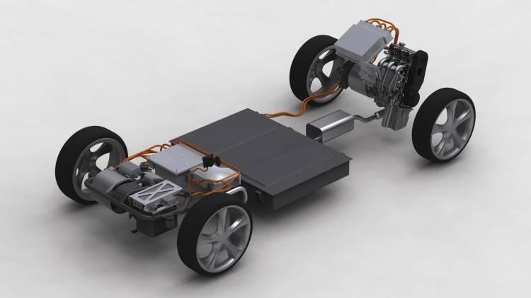 Plataforma híbrida del Proton Hybrid Concept desarrollada por Lotus