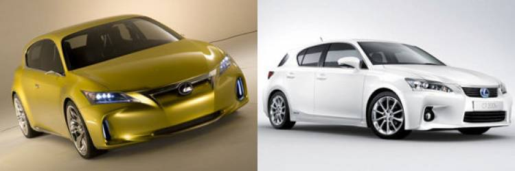 Lexus LF-Ch Concept y Lexus CT 200h