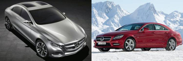 Mercedes F800 Style Concept y Mercedes CLS 2012
