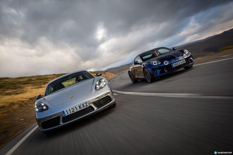 Prueba Alpine A110 Porsche Cayman T 8