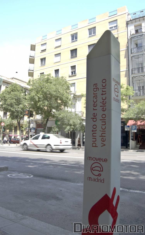Punto de recarga de eléctricos en Madrid