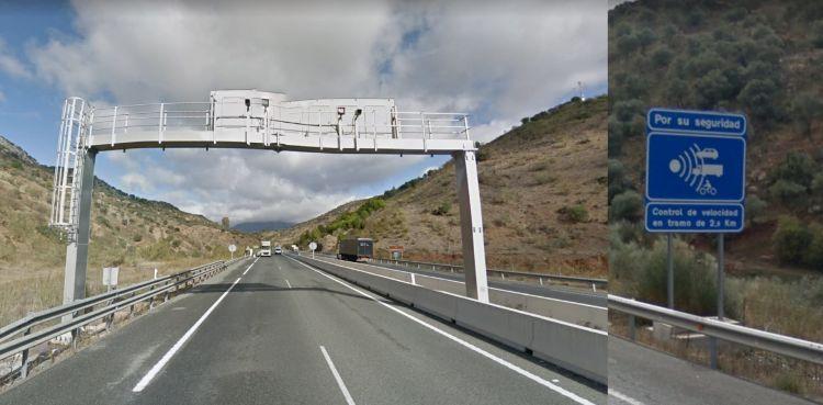 Radares De Tramo Dgt Portico Carretera Senal