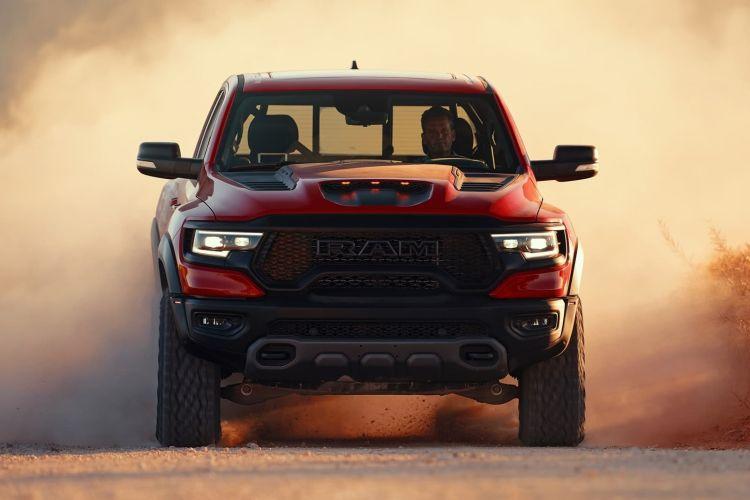 2021 Ram 1500 Trx Front Head On In Motion