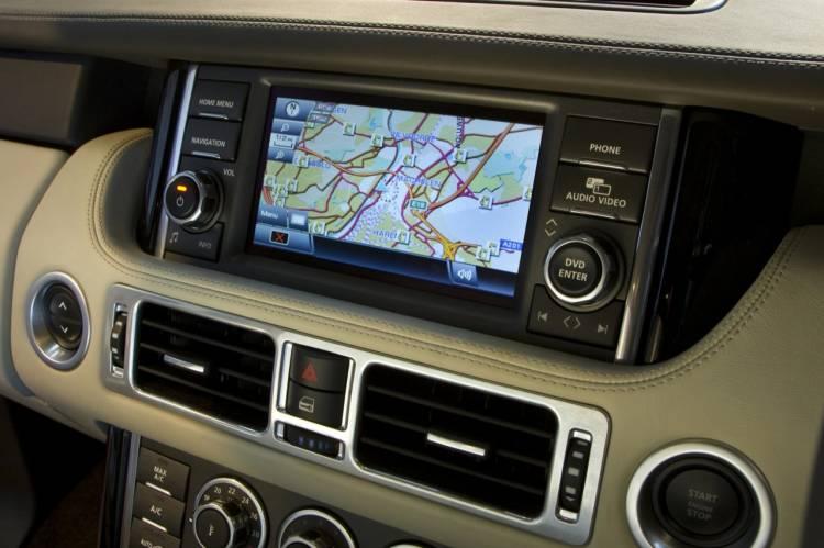 Pantalla táctil de doble visión para el Range Rover