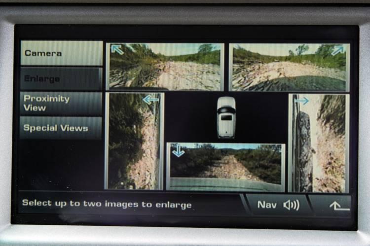 Sistema de Cámaras Periférico en el Range Rover