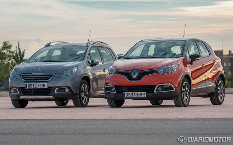 Renault Captur y Peugeot 2008