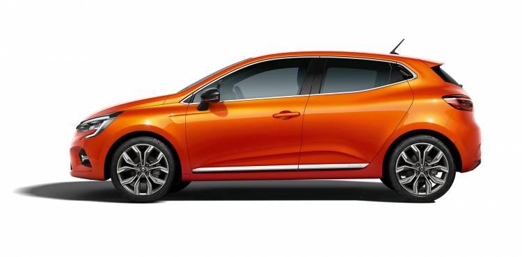 Renault Clio 2019 Naranja Exterior Lateral 06