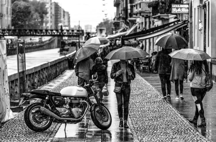 Riccardo Chiarini Moto Honda Lluvia