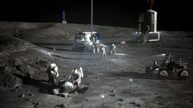 Rover Lunar Lockheed Martin Ilustracion