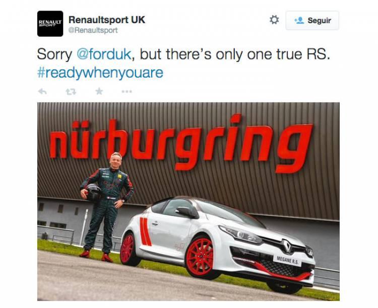 El nuevo Ford Focus RS aún no ha llegado a las calles... y ya se ha tenido que enfrentar al Renault Mégane RS