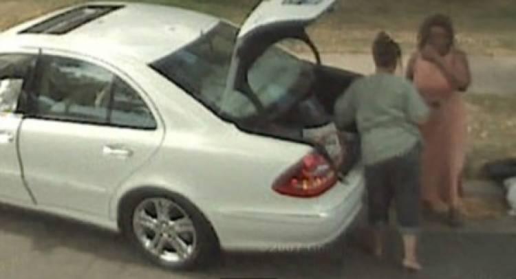 Accidente de un mercedes en Google Earth