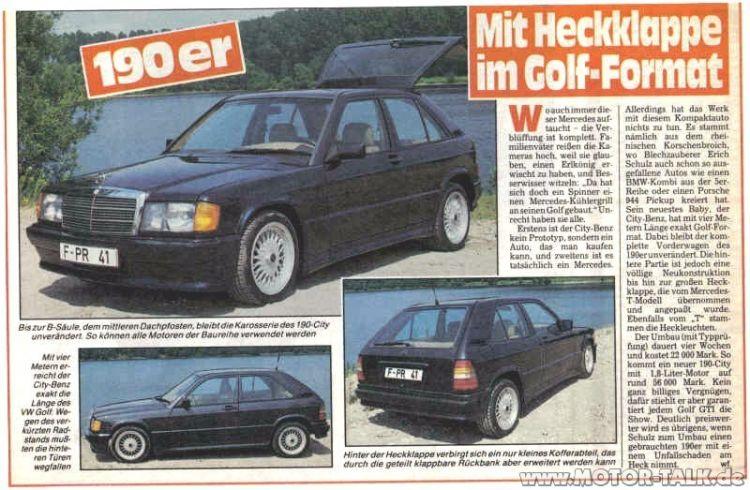 Schulz 190e City Mercedes Historia 04