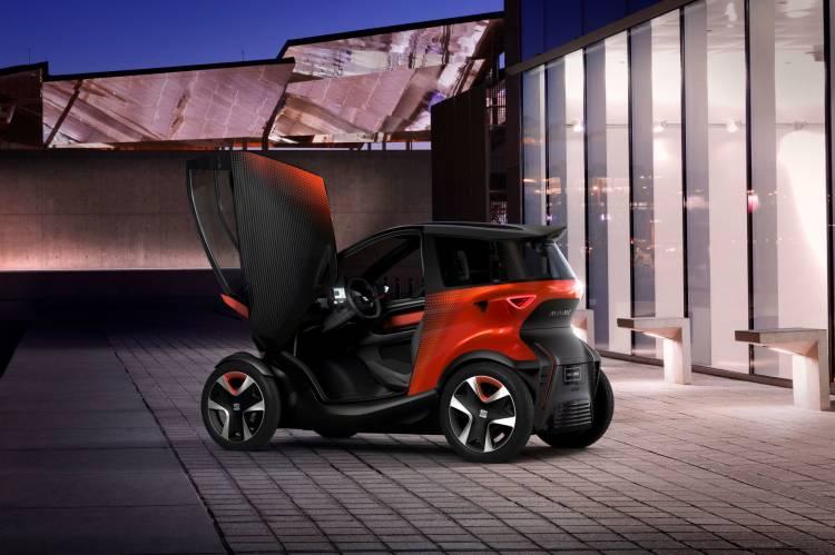 Seat presenta Minimó, un vehículo eléctrico biplaza para moverse por la ciudad