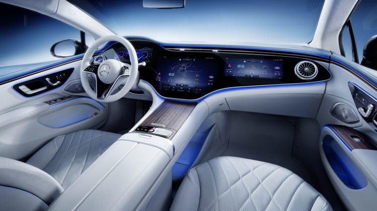 Mercedes Eq, Eqs, Interieur, Mbux Hyperscreen Mercedes Eq, Eqs, Interior, Mbux Hyperscreen