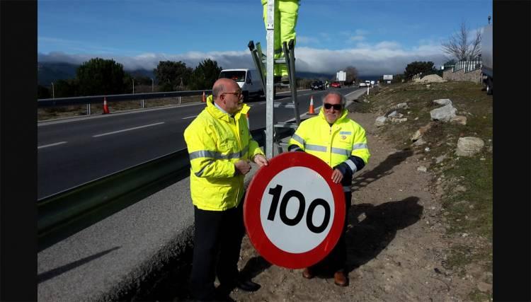 Senales 100 90 Kmh Limite Velocidad Carretera 1