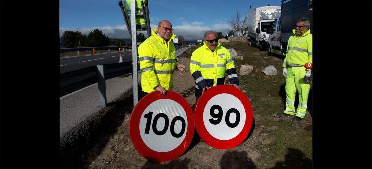 Senales 100 90 Kmh Limite Velocidad Carretera 2