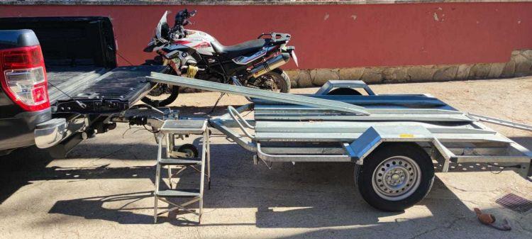 Set Up Subir Moto A Pick Up Usando Remolque
