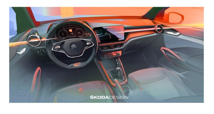 Skoda Fabia Interior 2021 01