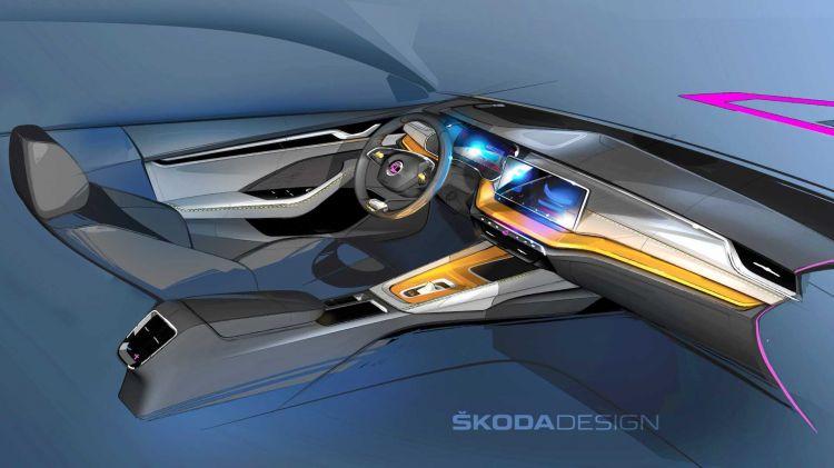 Skoda Octavia 2020 Teaser Interior 01