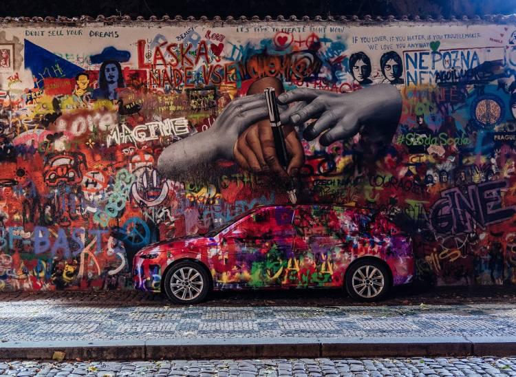 Skoda Scala Fotos Praga Muro John Lennon 11