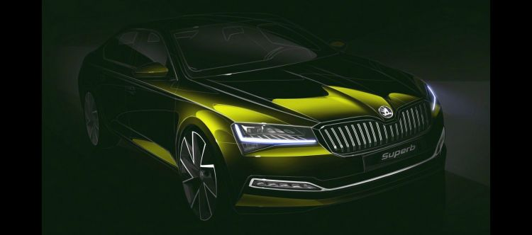 Skoda Superb 2019 Teaser