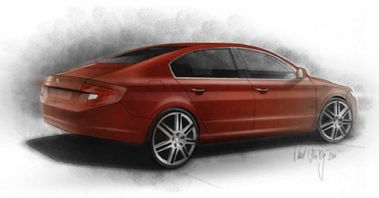 Skoda Superb Fastback: la idea de un rival para el Audi A7