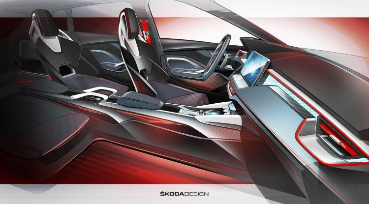Skoda Vision Rs Concept Interior 01